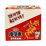 WeiLong Chinese food snack 卫龙 中国小吃零食 系列 (Beancurd products魔芋爽 (香辣)20 x 18g (盒), pack of 2)
