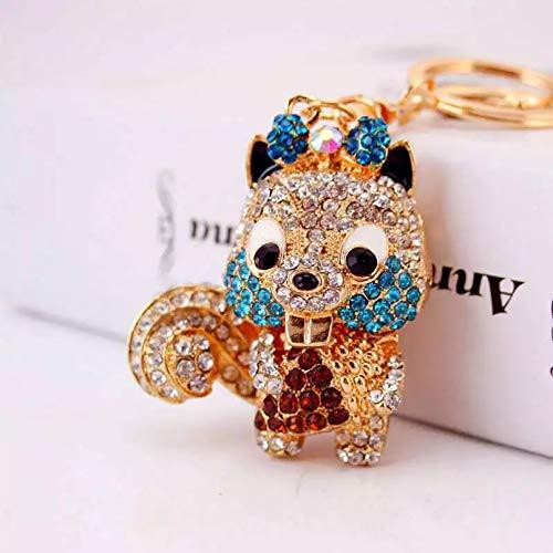 HWWGG Fashion Bag Package Pendant Squirrel Shape Key Ring Accessories Gift Pendant Key Ring