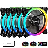 upHere 120mm RGB LED Computer Case PC Cooling Fan, Ultra Quiet High Airflow