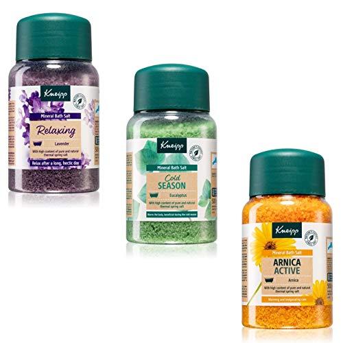 Kneipp Eucalyptus Mineral Bath Salts 500g, Kneipp Lavender Mineral Bath Salts 500g and Kneipp Arnica Mineral Bath Salts 500g Bundle