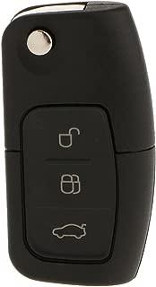 gazechimp 3 Button Flip Key Fob Transponder Chip For Ford FOCUS MONDEO