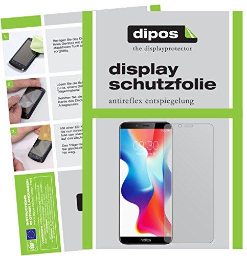 dipos I 2X Schutzfolie matt kompatibel mit TP-Link Neffos X9 Folie Bildschirmschutzfolie
