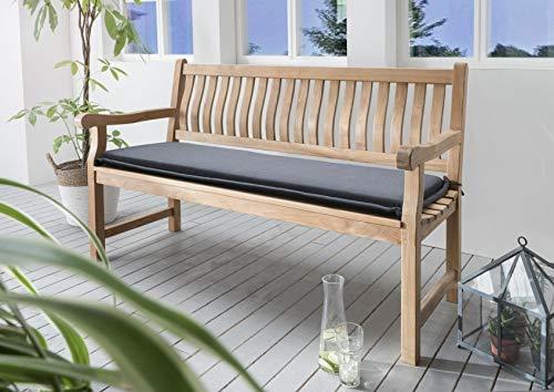 Destiny Bankpolster 140 cm * ANTHRAZIT * Kissen Auflage für Gartenbank Bank Polster Neu