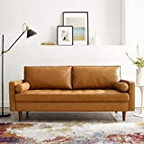 Modway Valour Vegan Leather Tufted Couch