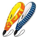 Ringke フローティングストラップ (ストラップ 2個入り) フロートストラップ GoProなどアクションカメラ用 ストラップ 水に浮かべる 紛失防止 フローティングリストストラップ Floating Strap (Banana+Navy Stripes)