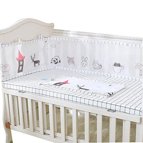 Baby atmungsaktives Mesh Crib Liner Kinderzimmer Bett Bumper Pads 4-Seiten-Abdeckung, Sommer Cool Cradle Protector Bettgitter, Kinderbett Bettwäsche-Sets, Erhöhen Sie auf 30CM@120 * 70_A5
