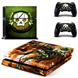 Playstation 4 Skin Set – Shooter game - HD Printing Vinyl Skin Cover Protective for PS4 Console and 2 PS4 Controller by Tullia