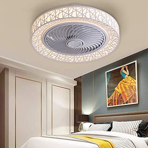 Deckenventilator Mit Licht Und Fernbedienung 72W LED Fan Deckenleuchte Moderne Ventilator Leise Einstellbare Windgeschwindigkeit Kann Timing Beleuchtung Kinderzimmer Esszimmer Deckenlüfter,Weiß