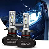 Ampoule H4 LED, GreenClick 8000LM 6500K Seoul-CSP LED Phares Voiture Ampoules Etanche IP65 Car Headlight LED Véhicule Blanc Pur Tout-en-un Kit de Conversion(2pcs)