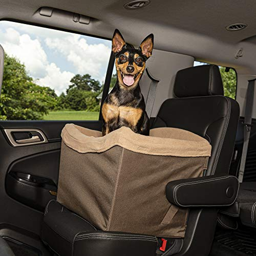 Dog Booster Seats for Vehicles with Anti-Skid Mat Puppy Car Seat for Pets Under 11 lb HIPPIH Small Dog Car Seat Upgraded Sturdy Pet Car Seat for Medium Dogs with Whole PVC Bars Frame