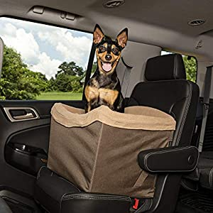 PetSafe Happy Ride Jumbo Booster Seat for Dogs – Elevated Pet Bed for Cars, Trucks and SUVs – Multiple Styles, Includes Tether