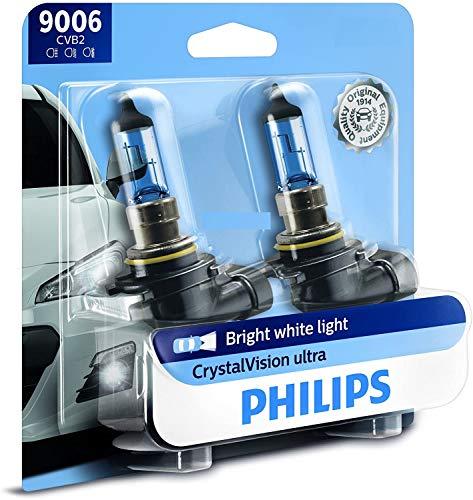 Philips 9006 CrystalVision Ultra Upgrade Bright White Headlight Bulb, 2 Pack