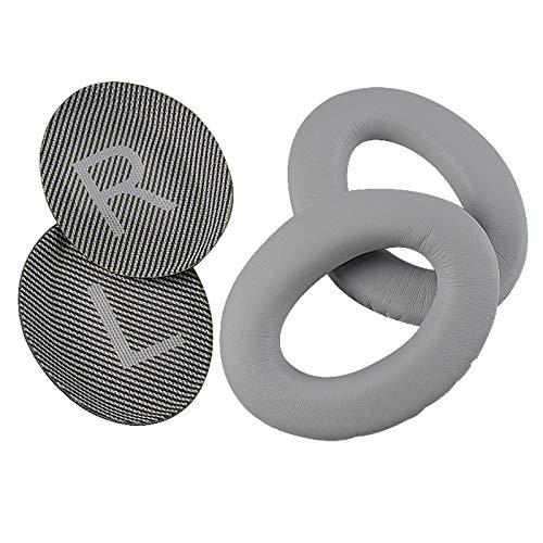 Almofada de substituição de orelhas para fones de ouvido Bose Quiet Comfort 35 (QC35) e QuietComfort 35 II (QC35 II), Cinza