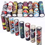 24 PCS 18650 Battery Wraps, Devil Series Protective Skin, Pre Cut Sleeves Heat Shrink PVC Tubing Tubes - Make Your 18650 Battery Cool and Wonderful, 8 Styles Replacement Cover Film