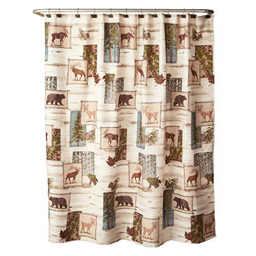 SKL HOME by Saturday Knight Ltd. Timber Ridge Shower Curtain, 70x72, Multi