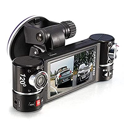 CHEZAI Dash Cam 3.0 Inch Full HD Touch Screen, 1080P Dual Lens Camera Matte Night Vision 170° Wide Angle, Parking Monitoring, Cycle Recording by SPRIS