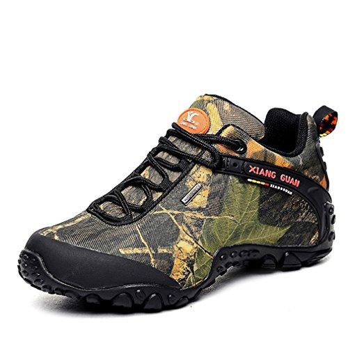 XIANG GUAN Femme Camo Imperméable Respirant Multisport Outdoor Chaussures de randonnée Trail Trekking (EU 39, Desert Camo)