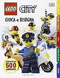 Gioca e disegna. Disegna e crea. Lego city. Con adesivi. Ediz. illustrata: Lego City - Gioca e disegna