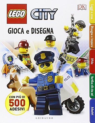 Gioca e disegna. Disegna e crea. Lego city. Con adesivi. Ediz. illustrata