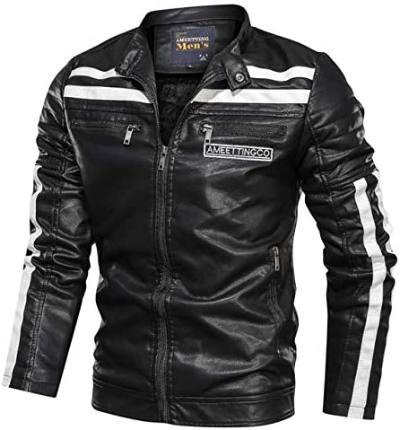 2020 Motorcycle PU Leather Jackets Max 61% OFF Vintage Don't miss the campaign Warm Men Autumn Bombe