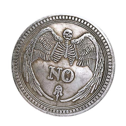 Baoblaze Ja / Nein Entscheidung Poker Coin Gedenkmünze Glück Metall Souvenir Kunst