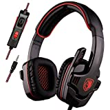 Sades PS4 Gaming Headset Headphone Stereo Over Ear Wired 3.5mm Headphone with Microphone