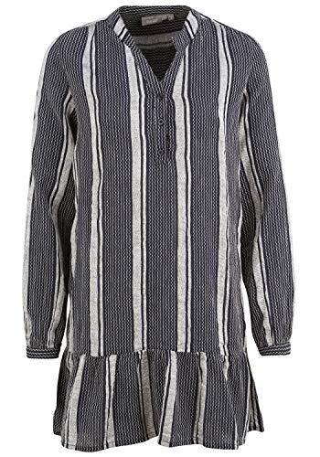 fransa Damen Tunika Bluse Langarm 20608089, Größe:M, Farbe:Dark Peacoat Mix (200120)