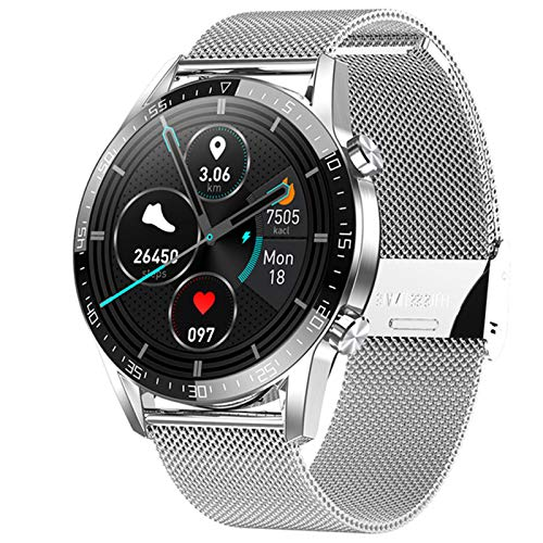 Voor Android iOS Smart Watch G5 1.39AMOLED ROND SCHERM IP68 Waterdichte Bluetooth 5.1 Call Message Herinnering ECG-stappenteller Smart Clock,B