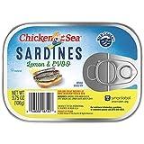 Chicken of the Sea Sardines, Extra Virgin Olive Oil Lemon, 3.75 oz (Pack of 18)