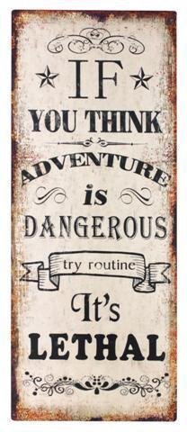 Signes Grimalt–Placa de pared decorativa mensaje Adventure 50x 20cm 71356SG