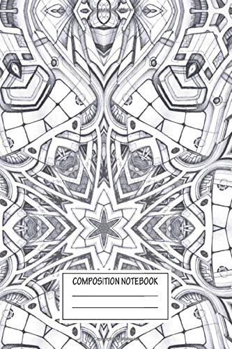 Composition Notebook: Abstract Starship Wallpaper High Tech Dream Wide Ruled Note Book, Diary, Planner, Journal for Writing