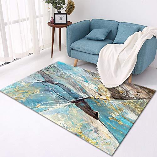GBFR Alfombras grandes para sala de estar, abstracción geométrica, alfombra de mostaza, tradicional, dormitorio, estudio, exterior, comedor, baño, espacio comercial, 80 x 160 cm