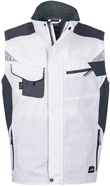 James and Nicholson Unisex Workwear Vest