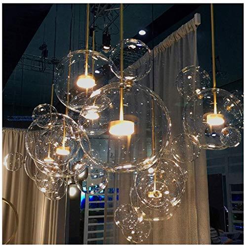 Moderne Einfachheit LED Nordic Bubble Ball Kronleuchter Mehrere Lampenfassungen Runde Kristallleuchter Große Persönlichkeit Licht Anhänger Restaurant Wohnzimmer Lampe (Size : Six48*68cm)