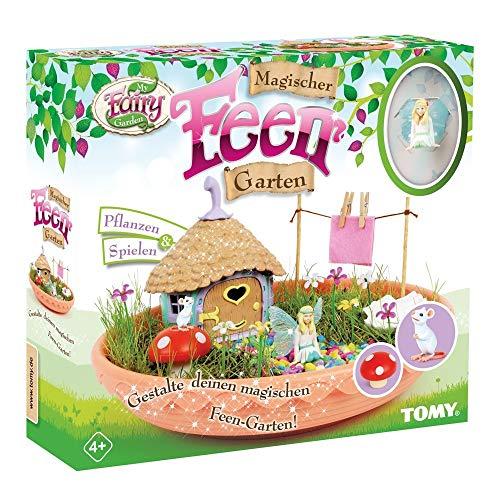My Fairy Garden Spielzeugset, Magischer Feen Garten, Garten für Kinder zum Selber Pflanzen & Spielen, Feen Garten Set inkl. Grassamen, Kreativset Mädchen, Ideales Weihnachtsgeschenk, ab 4 Jahres