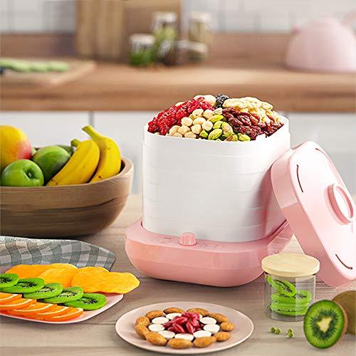 Veggydry DöRrgeräT,Pink 5-Schicht-Multifunktions-Trockenobstmaschine,Abnehmbares Design FüR Einfache Reinigung,360 ° HeißLuftzirkulationssystem,GleichmäßIge Trocknung Und EntwäSserung
