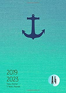 2019-2023 Five Year Planner A4 Navy Anchor Goals Monthly Schedule Organizer: 60 Months Calendar; Agenda Appointment Diary Journal With Address Book, ... Notes, Julian Dates & Inspirational Quotes