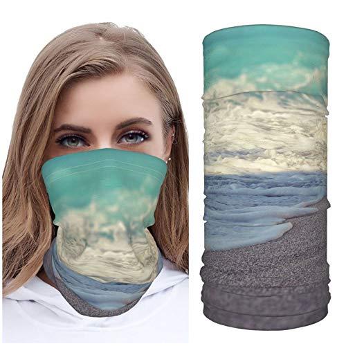 Jack16 Sea Coast Beach Sand Wave Stone Macro Grains Ice Silk Face M_ask Face Cover Neck Gaiter Headwear Headscarf Balaclava Breathable for Running Riding