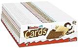 kinder Cards - 20 Einzelpackungen mit je 10 knusprigen Waffeln, cremiger Milch- und Kakaofüllung und Kekswaffel mit kinder-Schokolade-Geschmack