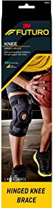 Futuro Hinged Knee Brace, Firm Stabilizing Support, Adjust to Fit, Black