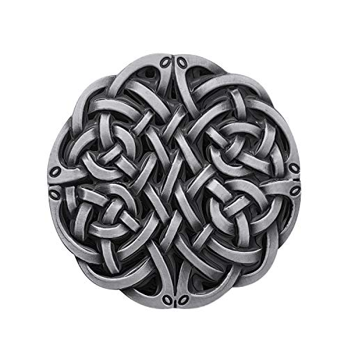 QUKE American Keltic Irish Scottish Celtic Cross Celtic Knot Belt Buckle For Men