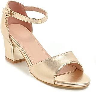 BalaMasa Womens ASL06929 Pu Block Heels