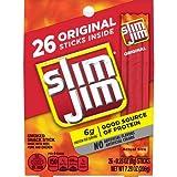 Slim Jim Original Flavor, .28 Oz. 26-Count, 7.28 Oz. (Pack of 1)