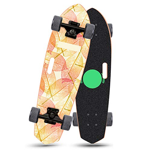 qwert Skateboard Cruiser Patinetas Completas, Mini patineta de Arce de 28 Pulgadas con rodamientos ABEC-9 para niños, niñas, Adolescentes, jóvenes, Adultos, Principiantes (28 x 7.5 Pulgadas)