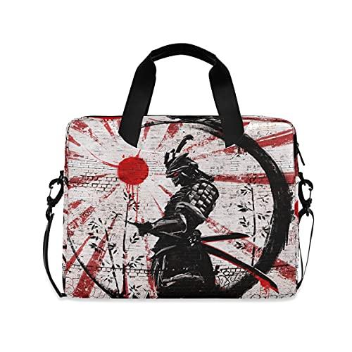 HaJie - Bolsa para ordenador portátil (15,6 cm, 40,6 cm), diseño retro japonés Samurai