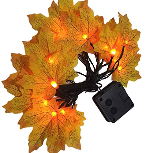 Solar Lights Outdoor Garden, Solar LED Maple Leaf Lights Solar Lights Outdoor Store Decoration Holiday Outdoor Party Layout, 6.5M-30 Lights