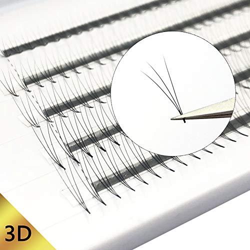 Extensión de Pestañas 3D 0,07 mm C Curl Extensiones rusas de pestañas Extensiones individuales de pestañas Bandeja mixta ventiladores de pestañas premade en volumen para belleza de Obeya
