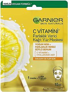Garnier C Vitamini Parlaklık Verici Kağıt Yüz Maskesi
