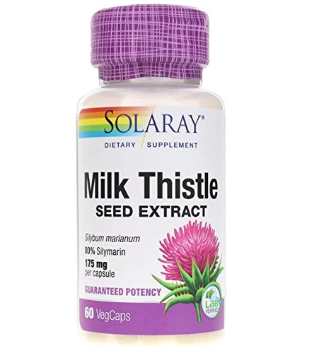 Solaray Milk Thistle Extract Supplement, 175mg, 60 Count