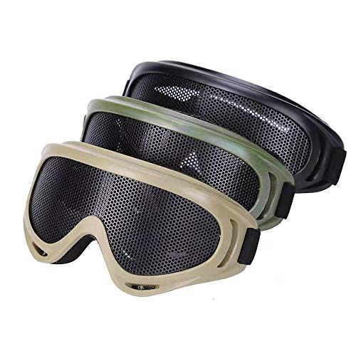 DPLUS Sports Goggles, Airsoft Tactical Goggles-Packs of 3-Shock Resistant Safety Goggles Wargame Shooting Goggles